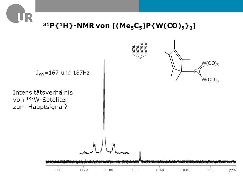 31P{1H}-NMR von [(Me5C5)P{W(CO)5}2]